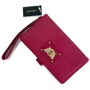 Juicy Couture Pink Wallet Phone Case